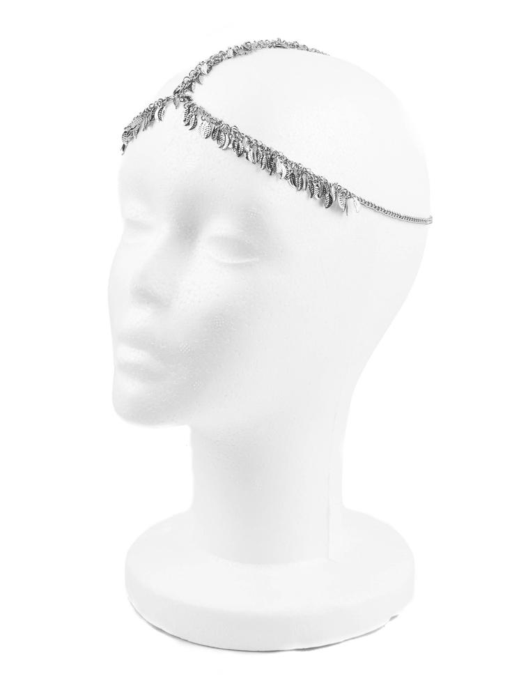 Rhodium Glasir Head Jewellery