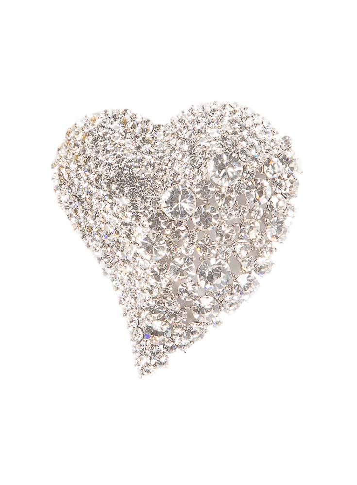 Sparkling Heart Brooch