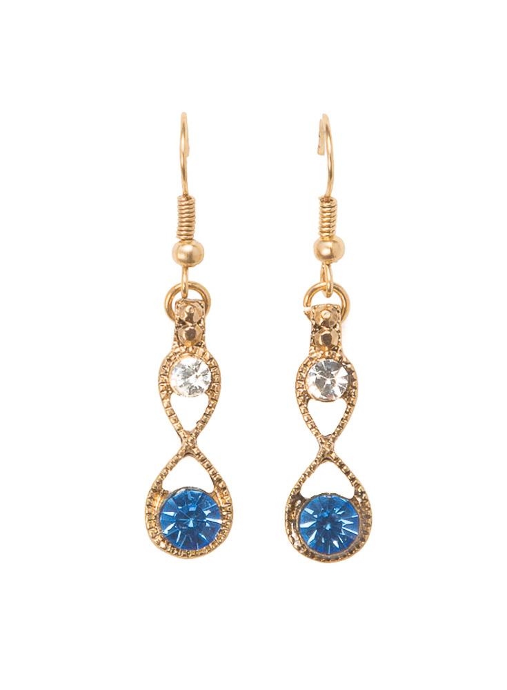 Blue Infinity Earrings