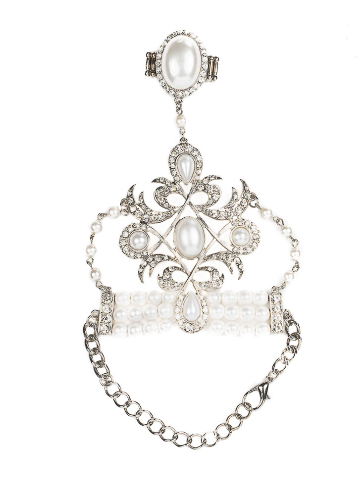 Renaissance Pearl Hand Piece – Rhodium