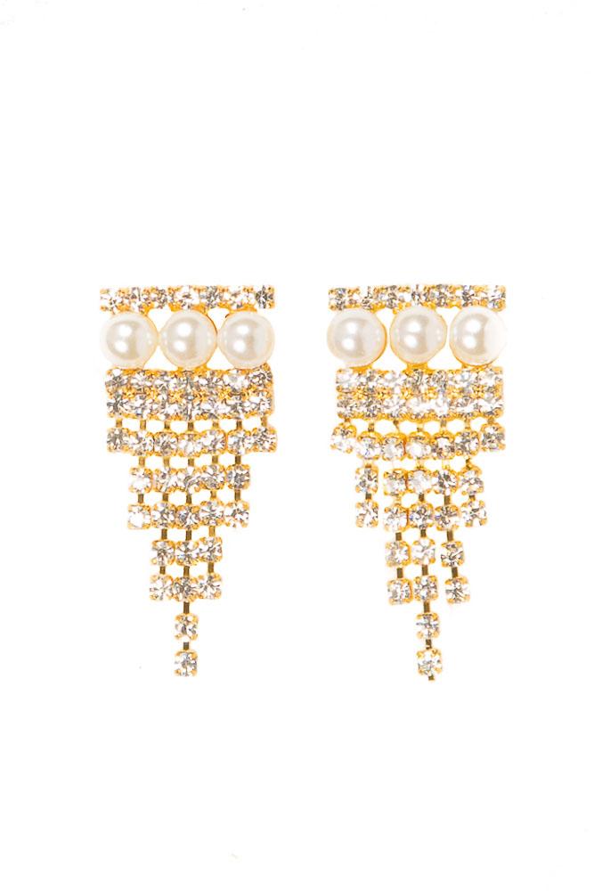 Adonis Pearl Earrings - Gold