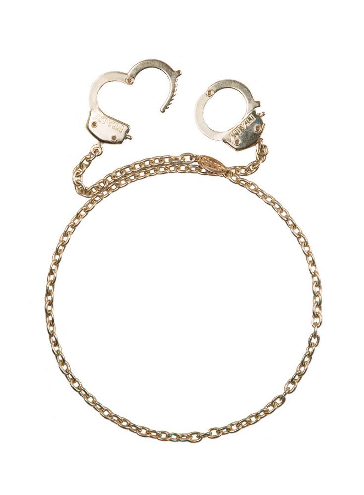 Golden Handcuff Necklace